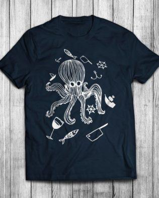 Koszulka damska Głodny Kraken