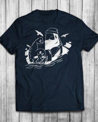 Koszulka damska Siłacz Żeglarz